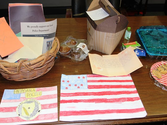 Residents mailed and dropped off thank-you cards and letters, in addition to baked goods, at the Pataskala Division of Police following the deadly shooting in Dallas.