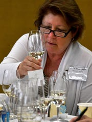 Debora Burgdorf of Burgdorf winery looks over the dry
