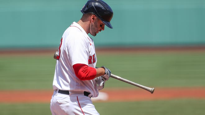 The 2020 season has been a struggle at the plate for Red Sox slugger J.D. Martinez.