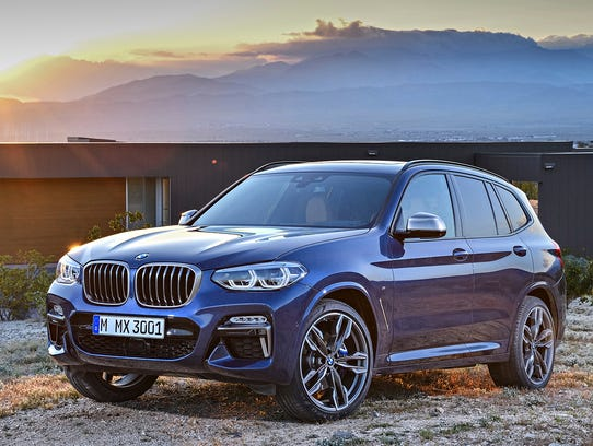 This photo provided by BMW shows the 2018 BMW X3 that