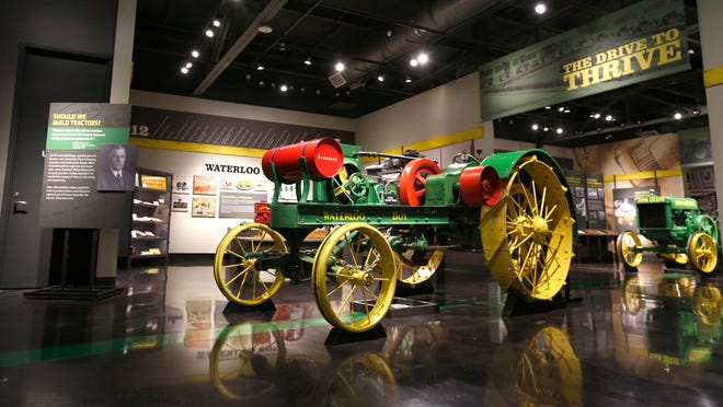A 1914 Waterloo Boy Tractor from Rochester, Minn., is featured in the new John Deere Tractor and Engine Museum in Waterloo.