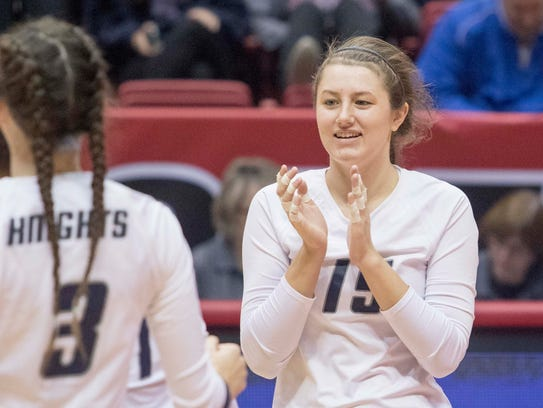 The Lafayette Central Catholic volleyball team fell