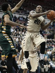 Kay Felder glides to the basket against Wright State last season. Felder was drafted by the Cleveland Cavaliers in the second round last week.