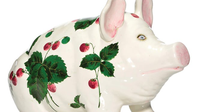 This Wemyss Ware pig was decorated by Joseph Nekola for Jan Plichta. The pre-1952 pig sold for $472.