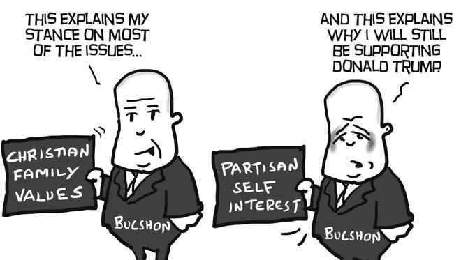 A congressman's decisions.