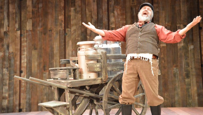 """El Pasoan Danny Lopez stars as Tevye, a traditional Jewish father of five daughters seeking to break tradition and marry for love in the UTEP Dinner Theatre's production of the Tony Award-winning musical """"Fiddler On the Roof."""""""