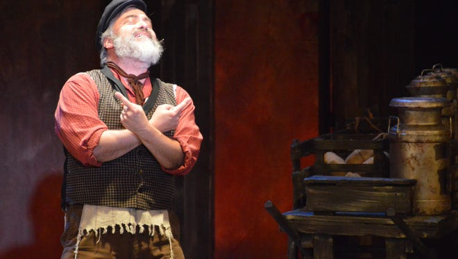 "Danny Lopez stars as Tevye in the UTEP Dinner Theatre's production of ""Fiddler on the Roof."""