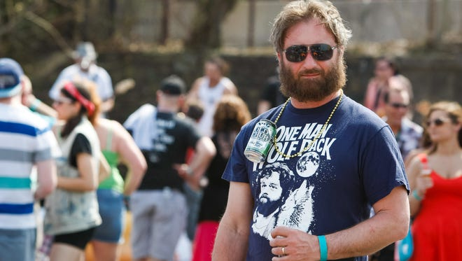 Mike Hrycak of Middletown strikes a pose at last year's Wilmington Beer Festival.