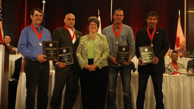 Doug Kumpon, Edward Staff, Chris White and Albert T. Fiori earned the Good Samaritan Adult Award.