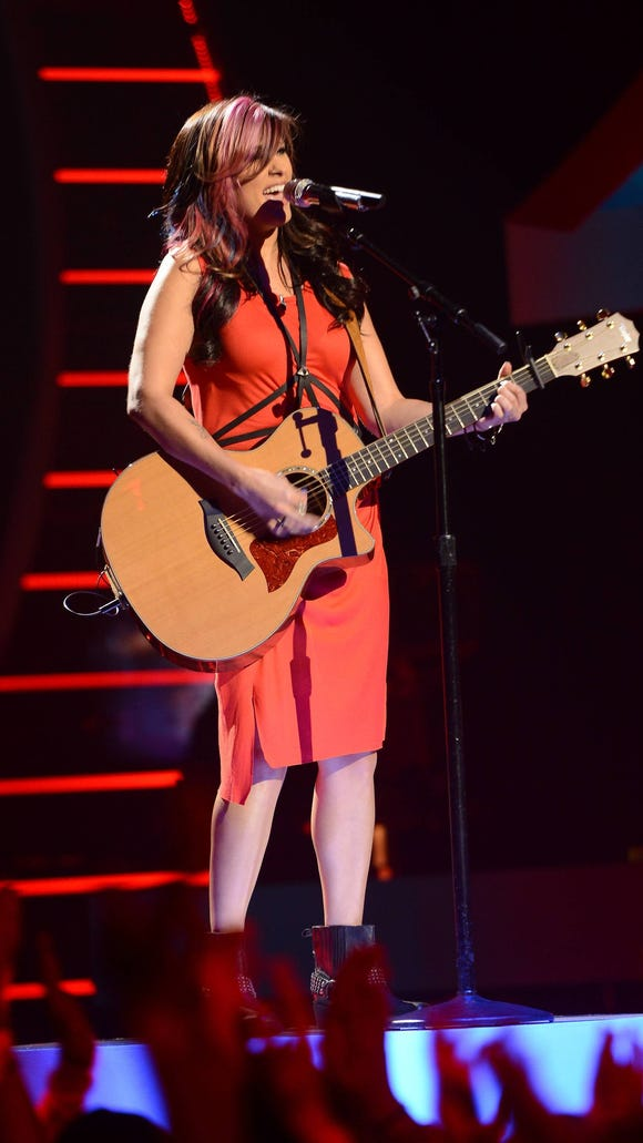"""Jessica Meuse performs on """"American Idol XIII"""" airing Wednesday, April 2, on FOX."""