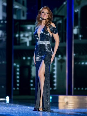 Haely Jardas represents the District of Columbia in the 2016 Miss America Pageant. Here she is in her evening gown.