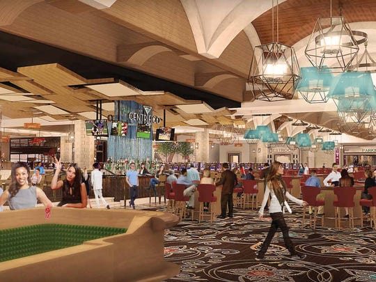 A rendering of the casino and bar that Lago Resort