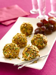 Almond Crusted Chevre and Grape Truffles