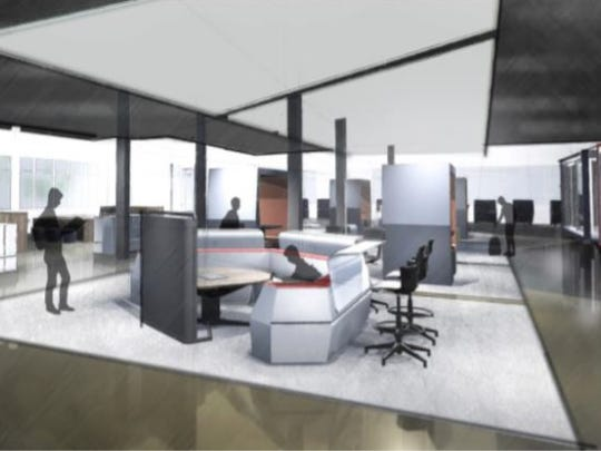 Early 3D renderings show ideas of what the new Empower Academy space may potentially look like conceptually, with different learning areas for students to choose from.