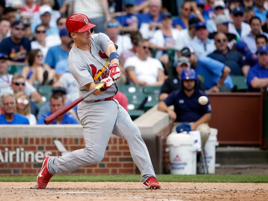 Carson Kelly, the No. 3 player in the Cardinals' minor-league system, is one of several talented prospects who were on the opening-day roster for the Memphis Redbirds.