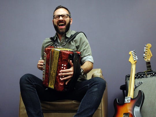 Roddie Romero of Roddie Romero and the Hub City All Stars performs during the Acadiana Roots series Wednesday in The Advertiser Community Room.