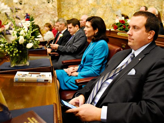 Rep. Kristin Phillips-Hill and Rep. Seth Grove during