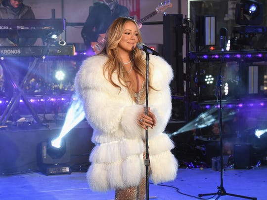 Mariah Carey before she walked off from her disastrous