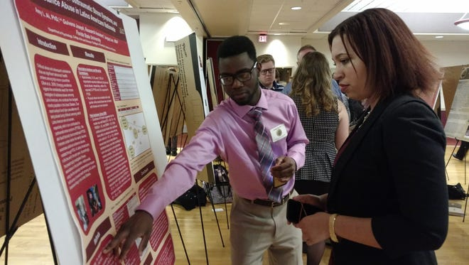 Students presented research in varying fields at the Undergraduate Research Symposium.