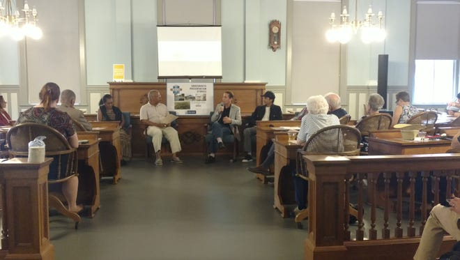 Panelists gather to discuss the importance of preserving landmarks as part of the Florida Historic Capitol's Grassroots Preservation Stories on September 8, 2016.