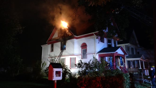 Firefighters arrived on Madison street about 10:30 p.m.