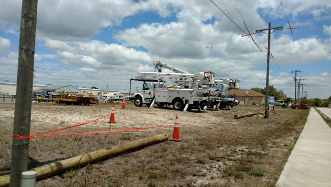A MasTec Utility contrctor died after coming into contact with a high-voltage line Tuesday afternoon in Cape Coral.