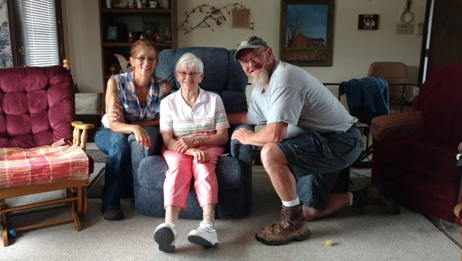 Kim Sinclair, left, Shirley Wallace and Bruce Sinclair love to tell the story of how a ring, long lost, was found.