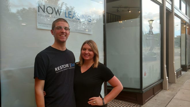 Cody and Caitlynn Newman purchased the Ratti Building in downtown Battle Creek in July.