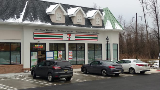 The store occupies an end unit within the center at 85 Main St.