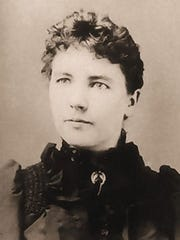 American writer Laura Ingalls Wilder is photographed circa 1885.