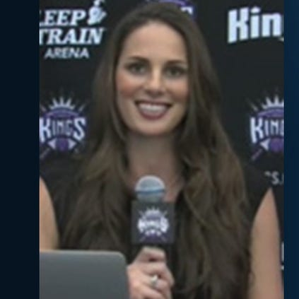 Photo of Katye Christensen on the NBA Team Kings Broadcaster page