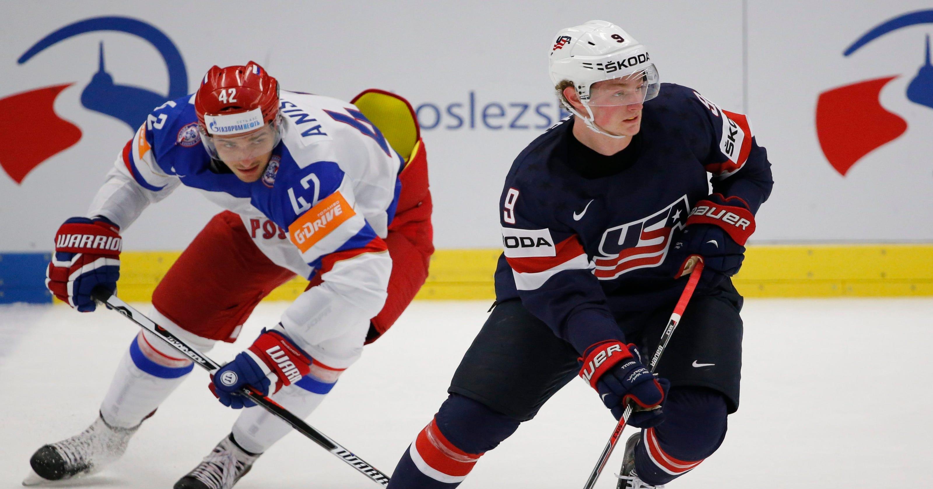 buy cheap 1b271 78c20 18-year-old Jack Eichel impresses NHL teammates at world ...