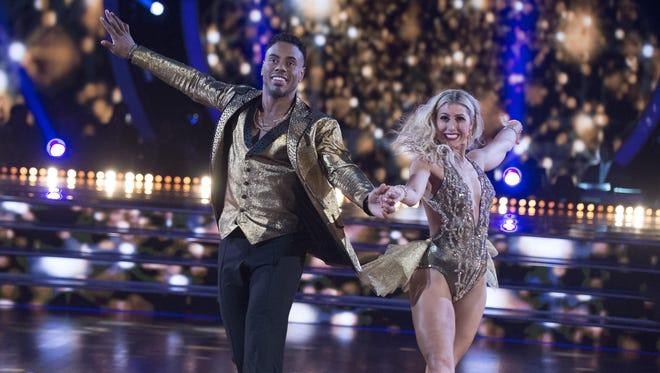 """NFL running back Rashad Jennings and his professional dance partner Emma Slater beat the competition to in season 24 of """"Dancing with the Stars."""" Now they'll tour the U.S. this summer with """"Dancing with the Stars Live: Hot Summer Nights."""""""