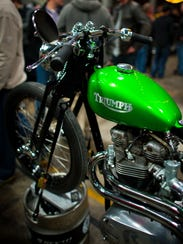 One of the many motorcycles featured at the 2015 Garage