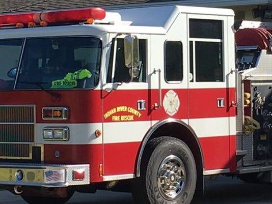 Brush fire in Sebastian River Middle School