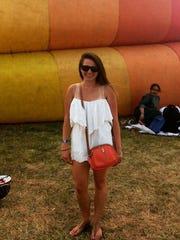 Columnist Jenna Intersimone at the QuickChek New Jersey Festival of Ballooning.