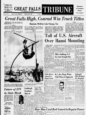 Front cover of the Great Falls Tribune from Sunday, May 21, 1967.