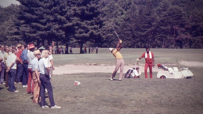 Golfers compete in the 1969 Skyview Open at Asheville Municipal Golf Course.