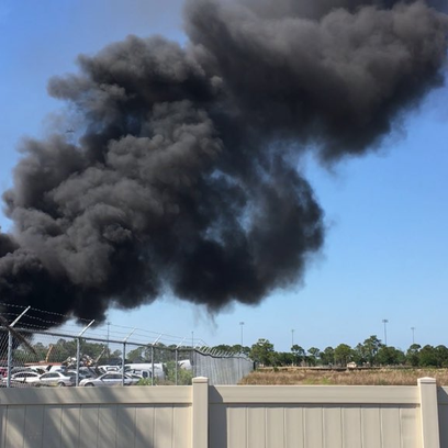 Large industrial fire, Indian River U-Pull-It on 45th
