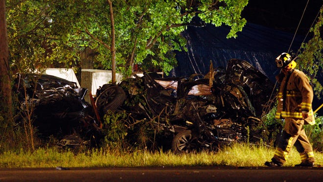A family of four from League City, Texas, died Aug. 11, 2014, when their Honda Accord was hit by a Dodge Durango that ran a stop sign while being chased by police. The 23-year-old SUV driver and his passenger were also killed.