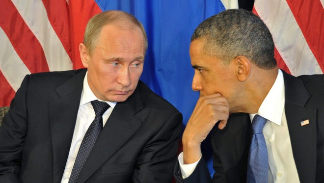 Barack Obama and Russian President Vladimir Putin in 2012.