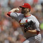 St. Louis Cardinals pitcher Lance Lynn got the win but left Saturday's game in the 8th inning with a minor ankle injury.