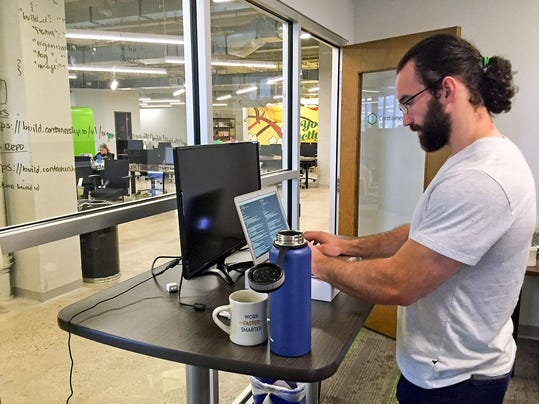 tanding desks making big difference for the well-being of many workers