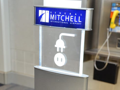 Milwaukee's Mitchell International Airport is installing more than 60 charging stations, each with six power outlets and two USB ports.
