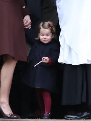 Princess Charlotte pauses at door of St. Mary's Church