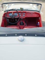 George Krause's 1956 Triumph TR3 sports car