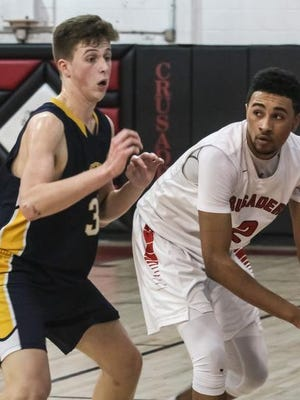 Bound Brook's Anthony Perez handles against Florence.