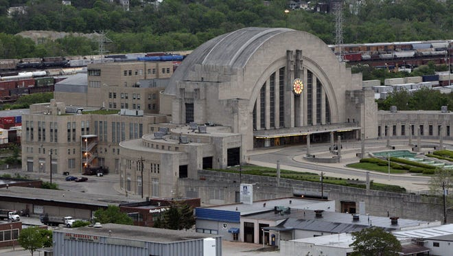 AERIALS-LOCAL: Sunday May 5, 2013: An aerial view of the Cincinnati Museum Center at Union Terminal.