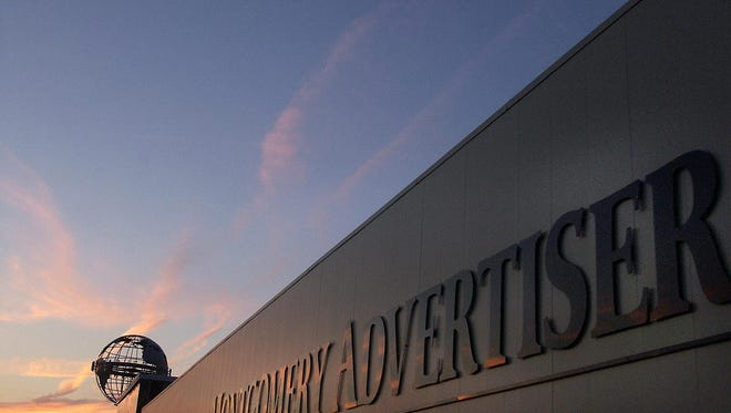 Montgomery Advertiser sign on building