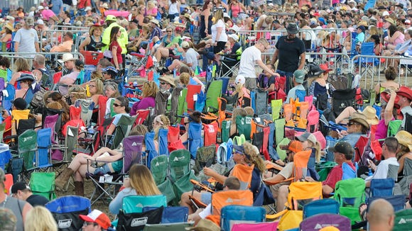 The Big Barrel Country Music Festival crowd last weekend in Dover.